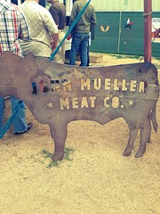 Signage. (jenschuetz) Tags: austin texas beef bbq meat barbecue institution johnmueller uploaded:by=flickrmobile flickriosapp:filter=chameleon chameleonfilter johnmuellermeatcompany