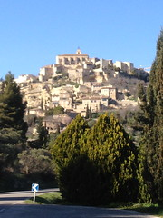 Leaving Gordes (GiftedHand) Tags: travel holiday france streets architecture landscape doors market restaurants shutters shops provence roussillon southoffrance ocres