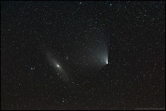 Andromeda and Pan-STARRS (Jonas Thomén) Tags: stars space astro andromeda galaxy astrophotography m31 comet l4 galax komet m110 stjärnor panstarrs rymd Astrometrydotnet:status=solved c2011 Astrometrydotnet:version=14400 Astrometrydotnet:id=alpha20130434891366