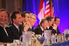 Premiers/premiers ministres Ghiz, Selinger, Dexter and/et McGuinty with American Governors/avec les gouverneurs américains