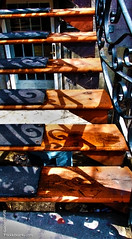 SHADOWS on STAIRCASES, BERRI STREET, MONTREAL (Bruno LaLibert) Tags: city metal architecture photoshop lightsandshadows shadows montreal staircases hdr 2013 brunolalibert