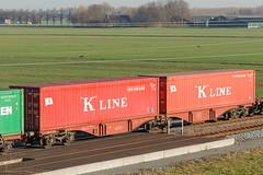 4960 338 - Sggrss - DB Intermodal - BR - 20130112 (Cees Cargo Wagons) Tags: kr kv neuss kline goederen betuweroute herwijnen containerwagens sggrss kombirail sggrss7332 35riv80dbtsk49603386