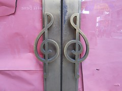 Colony Music (Joe Shlabotnik) Tags: music clef treble faved trebleclef doorhandles 2013 april2013