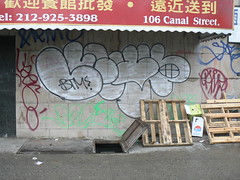 thro by lewy btm (httpill) Tags: streetart newyork art graffiti manhattan tag graf lewy btm