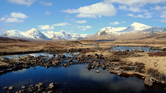 Lochan na Stainge (Andrew Lockie) Tags: snow mountains landscape scotland highlands day fuji argyll scottish glencoe moor capped munro rannoch xe1 blackmount explored achallader lochannastainge ammonadhdubh