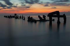 Relic Peers (GOJR.) Tags: ocean longexposure sunset red orange sun seascape beach colors clouds landscape twilight puertorico wideangle playa caborojo nikond600