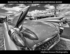 'Burgers, Fries & Fins' - American Motoring Show (Stephen Kinna Photography) Tags: show original blackandwhite bw usa classic cars car vintage boot us photo nikon unitedstates michigan tail rear detroit engine australia victoria cadillac eldorado chrome fries burgers american 1950s infrared april restored fin veteran racecourse insurance hdr highdynamicrange strips fins flemington 1959 tailfin shannons 1960 motoring 1024x796 2013 nikond600 photoengine oloneo stephenkinna stephenkinnaphotography snappysnacks