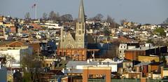 Baltimore from the rooftop garden of Hilton Garden Inn, Inner Harbor