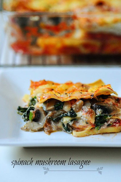 spinach and mushroom lasagna recipe