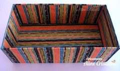 Caixa sapatilha de palhaço (Line Artesanatos) Tags: caixa caixademadeira caixaforrada patchworkembutido