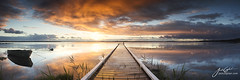 Berkeley Vale Jetty. (Jack Coghlan) Tags: travel winter sunset sea sky urban panorama sun plant seascape storm reflection green art love wet water sunrise canon landscape jack photography bay coast boat amazing rocks waves live australia east nsw centralcoast bits photooftheday