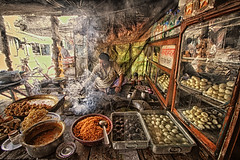 Want to lose your appetite? Read below! (Wameq R) Tags: street india shop photoshop canon sweet traditional side 7d 1022mm hdr lightroom allahabad blinkagain hdrefex