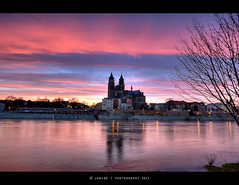 Sunset in Spring ( Janine ) Tags: sky canon river germany deutschland europa europe cathedral dom tripod magdeburg elbe saxonyanhalt sachsenanhalt eos450d magdeburgerdom leefilter leefilters magdeburgcathedral domfelsen flickrstruereflection2 flickrstruereflection3 flickrstruereflection5 flickrstruereflection6 flickrstruereflection7 flickrstruereflectionexcellence fotogruppemagdeburg