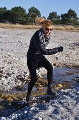 Crossing the stream (osto) Tags: woman denmark europa europe sony zealand tina dslr scandinavia danmark a300 sjlland  osto alpha300 osto april2013