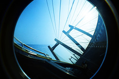 Worli Sea Link (raspberry dolly) Tags: india film lomography fisheye mumbai lomofisheye