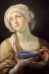 Lady with a Lapiz Lazuli Bowl, Birmingham Art Gallery (bodythongs) Tags: inglaterra england sculpture art statue museum lady painting italian birmingham nikon gallery fine lapiz bowl galerie dessin peinture governor ashes bologna devotion oil wife angleterre baroque guido westmidlands bolognese artemisia lazuli bmag mausolus reni caria d5100    bodythongs