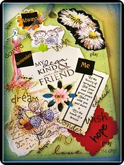 Wishes for You (MissyPenny) Tags: wood art collage artwork acrylic poem stamps mixedmedia stickers papers penandink pdlaich missypenny