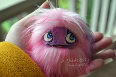 Custom Runt Pocket Fluff (Scribble Dolls) Tags: pink cute art monster fur happy miniature stuffed furry doll purple sweet handmade ooak pastel critter small fluffy mini fluff plush softie fabric stuffedanimal handpainted plushie faux handsewn cloth pocket creature sewn scribbledolls