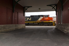 CN 310 @ Saint-Hyacinthe (Mathieu Tremblay) Tags: railroad toronto cn train railway canadian national freight 310 chemin joffre fer canadien subdivision sainthyacinthe marchandises