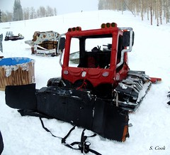 the cardboard groomer (stevencook) Tags: ski skiing grand 420 skiresort wyoming grandtarghee 2013 stevencook scook stevencookrealtycom