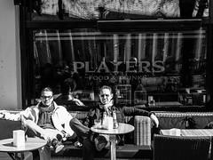 players (Fokko Muller) Tags: street urban blackandwhite bw man reflection amsterdam europe zwartwit thenetherlands streetphotography olympus straat urbanphotography straatfotografie olympus17mm olympusomd workshopolympus