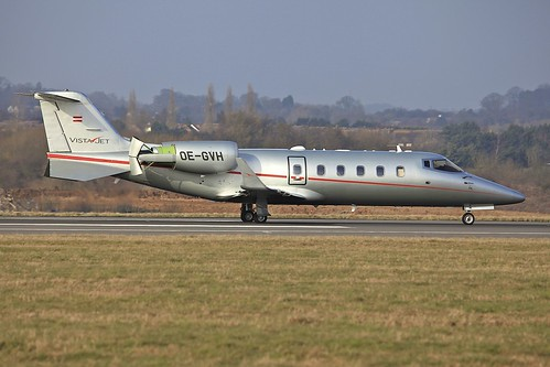 OE-GVH Learjet 60 LTN 18Feb13