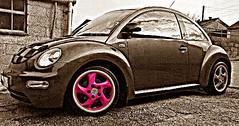 pink twist (herbiematt) Tags: new pink water wheel mobile vw bug volkswagen arty phone wheels beetle twist porsche newbie dub bugsy veedub cooled blackbury