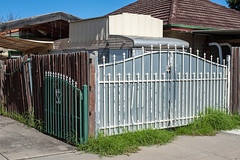 Sunshine (Westographer) Tags: home sunshine skyline fence gate suburbia australia melbourne caravan banal commonplace westernsuburbs