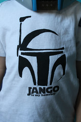 Jango is my Homeboy (Max-California) Tags: boy paper star diy is stencil tshirt lesley wars freezer tap homeboy rileys stencilling jango fett mandalorian