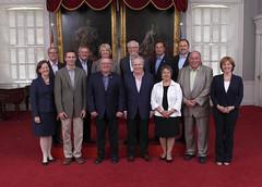 Premiers/premie(è)r(e)s ministres Wall, Alward, Dunderdale, Selinger, Ghiz, Pasloski, Redford, McGuinty, Dexter, Charest, Aariak, McLeod, Clark