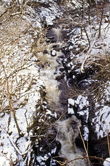 Conwy Falls (Saturated Imagery) Tags: snow film wales 35mm slidefilm e6 conwy canoneos300 kodakektachrome100g
