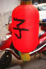 Lantern (Choollus) Tags: china red primavera analog rouge spring rojo asia kodak beijing lantern hutong blcu rosso e100vs yashica cina streetshot gulou zi pekin pechino