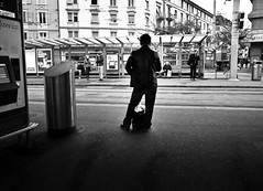 waiting for nothing to come (gato-gato-gato) Tags: street bw white black blanco monochrome digital person schweiz switzerland abend flickr noir suisse strasse zurich negro streetphotography pedestrian human april pointandshoot gr monochrom zrich svizzera weiss zuerich blanc ricoh ricohgr schwarz altstetten freitag onthestreets passant zri mensch sviss  autofocus zwitserland isvire zurigo fussgnger albisrieden zueri letzi strase   kreis9 grd4 gatogatogato fusgnger gatogatogatoch wwwgatogatogatoch  ricohgrdigitaliv