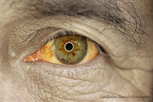 Fisherman Tired HDR eye