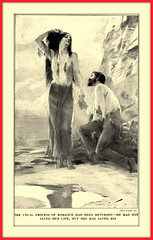 1915 Book Illustration - 'He had not saved her life, but, she his'   ... illustrated by Andr Castaigne (carlylehold) Tags: opportunity history robert st mobile louis email here smartphone join stories tmobile andr happens signup haefner castaigne solavei haefnerwirelessgmailcom