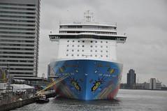 Norwegian Breakaway (ralphontravel) Tags: dutch rotterdam cloudy norwegian nederlands breakaway cruiseterminal cruiseschip