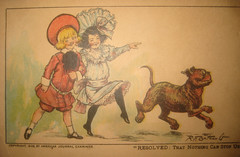 Buster Brown with Mary Jane and American Pit Bull Terrier dog Tige Postcard 9041 (Brechtbug) Tags: new york dog brown color hat by vintage magazine comics that cards tin us newspaper with post jane character postcard mary journal away william can pit bull give terrier stop card american strip richard postcards felton buster puck nothing 1906 hearst cartoonist randolph examiner lithograph tige resolved outcault