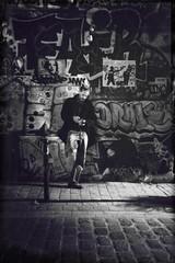 Fair (clok_moitie) Tags: street nightphotography people bw streetart paris france monochrome silhouette calle candid belleville streetphotography nb rue bnw streetphotographer streetphotographers mobilephotography iphonephotography iphonography iphoneshots iphonephotographer iphoneography iphoneographer clokmoitie