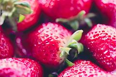 Macro Strawberry (Kasia Nowak) Tags: red colour macro closeup fruit canon eos spring healthy strawberry fresh 100mm 28 diet 6d