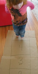 hopscotch 01 (momfetti) Tags: toddler cardboard hopscotch crayon