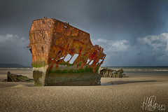 MV Irish Trader (howardbrown) Tags: seascape landscape coastline hdr drogheda baltray sharpness canon1022mm irishcoast baltraybeach mvirishtradder