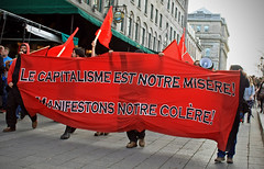1er Mai - 'May Day' Anti-Capitalist March 2013; Montreal, QC (Shane Murphy - Photojournalist) Tags: city riot media day quebec montreal protest may photojournalism police kettle mai premiere capitalism anti manifestation 1er spvm repression nationale p6 clac emeute sspvm