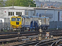 Matisa/Balfour Beatty Track Machine At East Croydon (Deepgreen2009) Tags: train track machine engineering railway southern siding eastcroydon matisa stabled