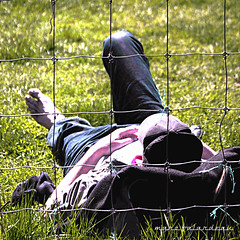 SPRING IN HOBO PARK (marc falardeau) Tags: sleeping toronto canada guy green spring nikon may amateur mosspark gayphotographer d300s