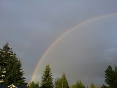 Faint double rainbow. (ladysinistral) Tags: sky color outdoors photography random noedit android awesomeshots streamzoo andrographer streamzooville