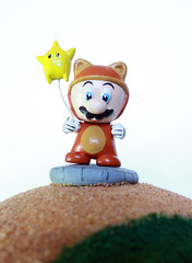 Mario Galaxy Munny FINAL (sillysyd) Tags: world game art star video geek nintendo wip super mario galaxy micro raccoon custom mega munny munth