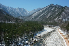 Seoraksan National Park (H.e.l.e.n.) Tags: winter snow mountains rocks rocky korea seoraksan trip2013