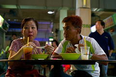 Lasting Love (OzGFK) Tags: street food dinner nikon singapore couple asia lovers supper d800 hawkercentre hawkercenter oldairportroad