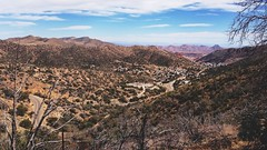 Mule Mountain View (beaubright) Tags: road city arizona mountains nature landscape photography hiking horizon az bisbee 16x9 afterlight mulemountains iphoneography snapseed vscocam uploaded:by=flickrmobile flickriosapp:filter=nofilter