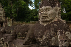 | Statue at the Entrance of Preah Khan (Owen Wong (Thank you)) Tags: statue asia cambodia siemreap angkor preahkhan       samudramanthan